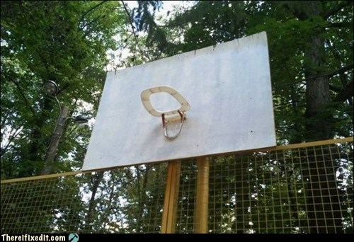 toilet basketball hoop kludge