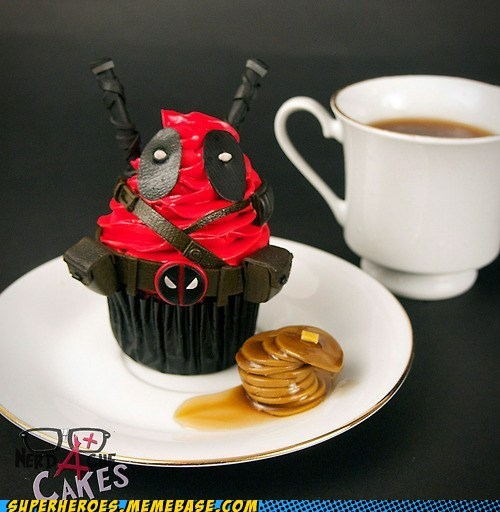 cupcake cute deadpool food - 6554167552