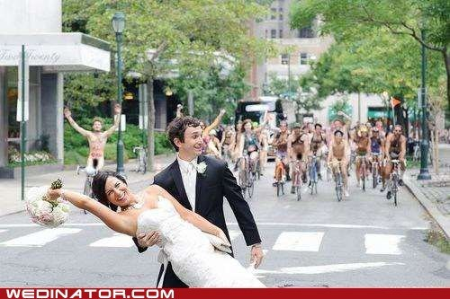 bike ride couple cyclists naked street timing