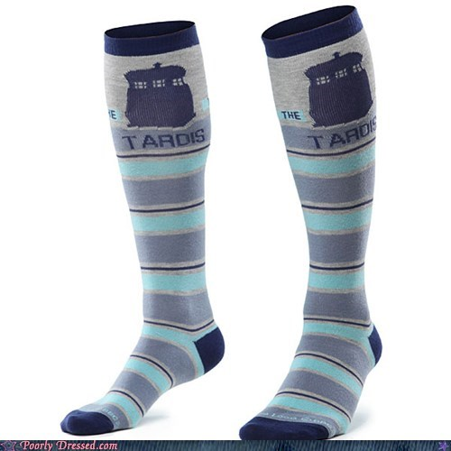 Anyone Care for Some... Tardis Socks?!