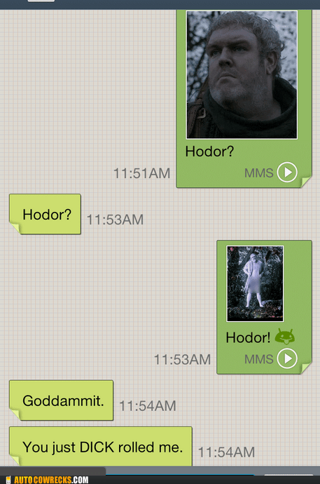 d rolled Game of Thrones gross hodor - 6554374912