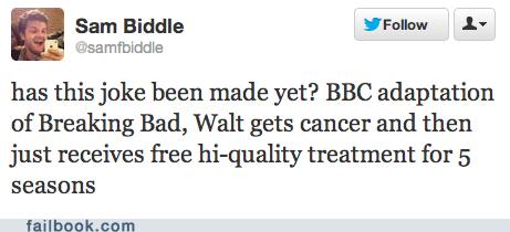aaron paul bbc breaking bad healthcare jesse pinkman twitter walter white - 6554390528