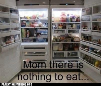 mom,nothing to eat,refridgerators