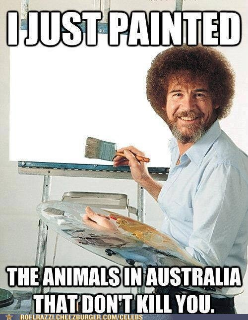 art bob ross celeb funny The Joy Of Painting TV - 6554627840