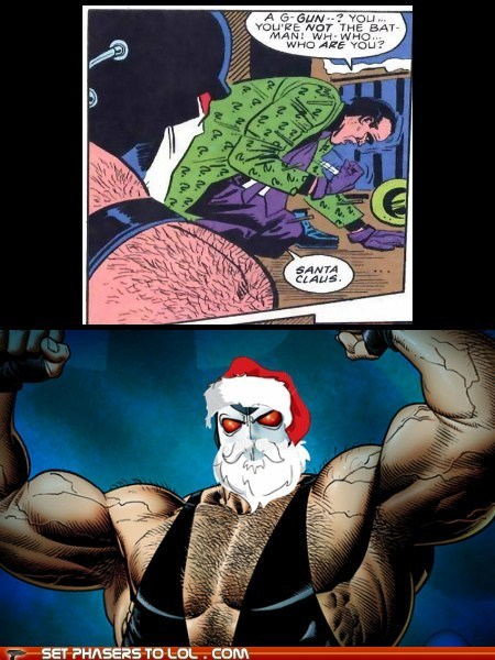 bane,batman,Riddler,santa claus,comics