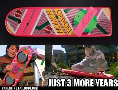 back to the future hover board - 6554659584