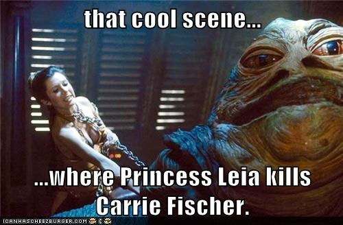 80s,actor,carrie fisher,celeb,funny,jabba the hutt,Movie,nostalgia,star wars