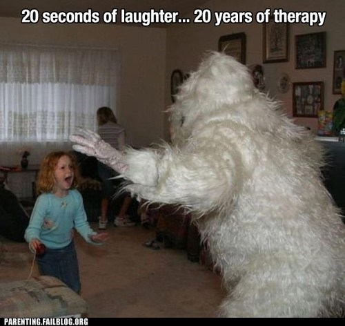 abominable snowman child therapy costume scary - 6554682112
