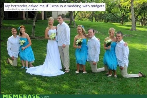 knees,midgets,wedding