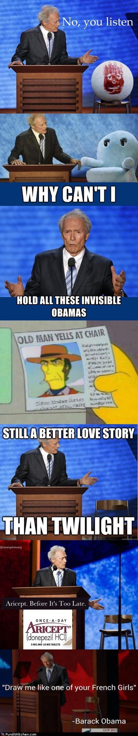 Clint Eastwood,internet,Memes,response,rnc