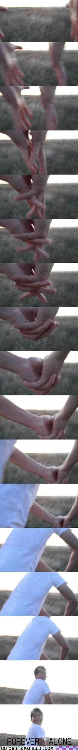 cute,forever alone,hand holding
