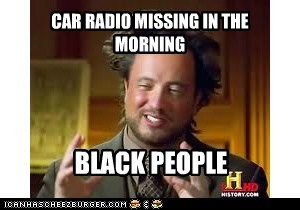 CAR RADIO MISSING IN THE MORNING