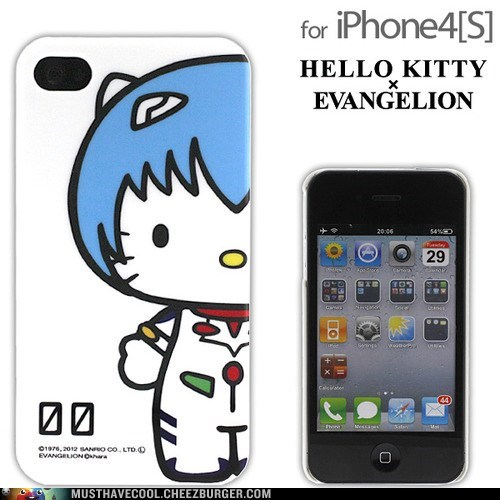 case,evangelion,hello kitty,iphone