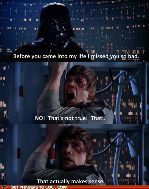 call me maybe darth vader impossible luke skywalker makes sense mark hamil - 6555123968