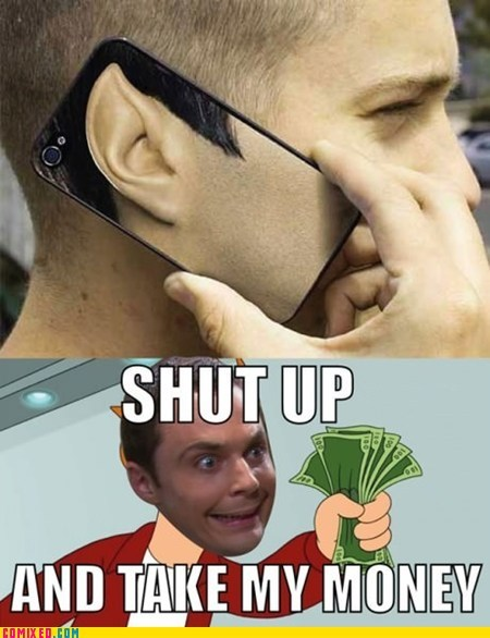big bang theory,iphone,shut up and take my money,shut up and take my money meme,spock ears