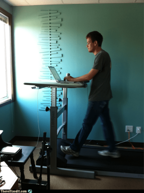 laptop Multitasking treadmill