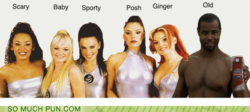 juxtaposition old spice shoop spice girls suffix surname - 6555215360