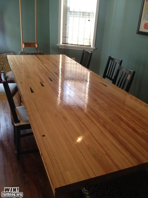 bowling bowling alley design table - 6555317248