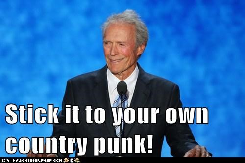 Stick it to your own country punk!