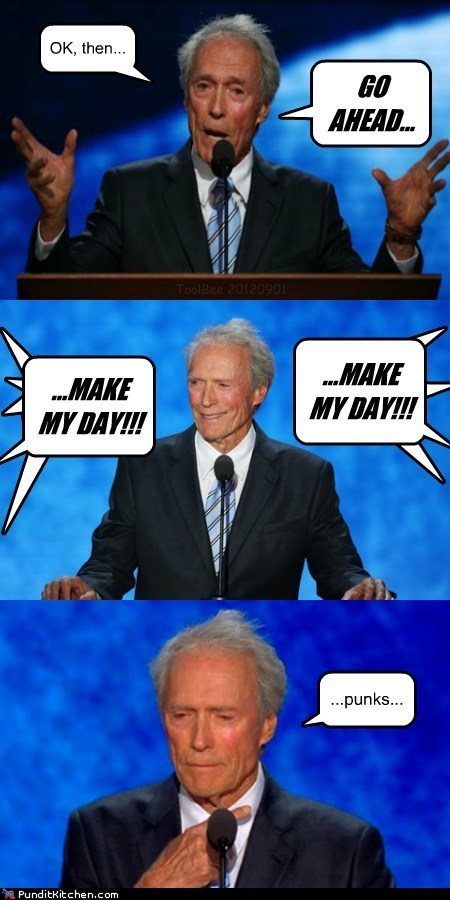 Clint Eastwood,go ahead,make my day,punks,quote,rnc