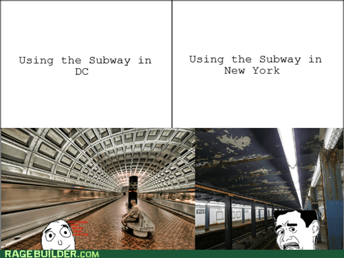 subways,DC,new york