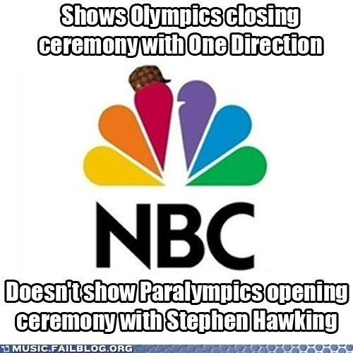 NBC olympics one direction paralympics stephen hawking