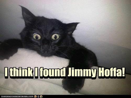 I think I found Jimmy Hoffa! I think I found Jimmy Hoffa!