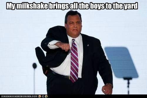 boys Chris Christie dance my milkshake strut - 6556278784
