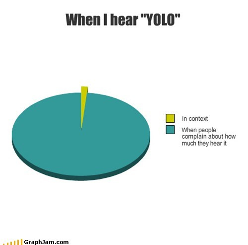 "When I hear ""YOLO"""