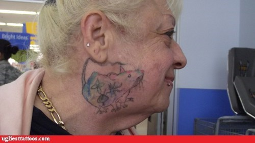 face tattoos rat - 6556535296