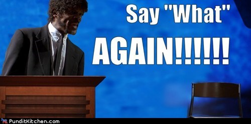 argument,chair,Clint Eastwood,does he look,rnc,Samuel L Jackson,say what again,yelling