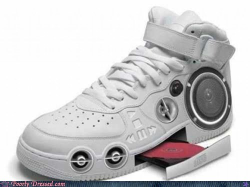 boom box,CD player,sneaker