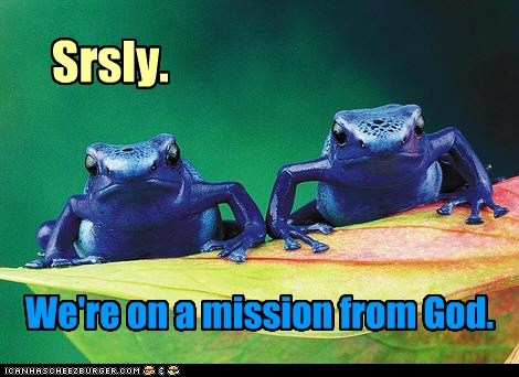blue blues brothers frogs god mission Movie quote