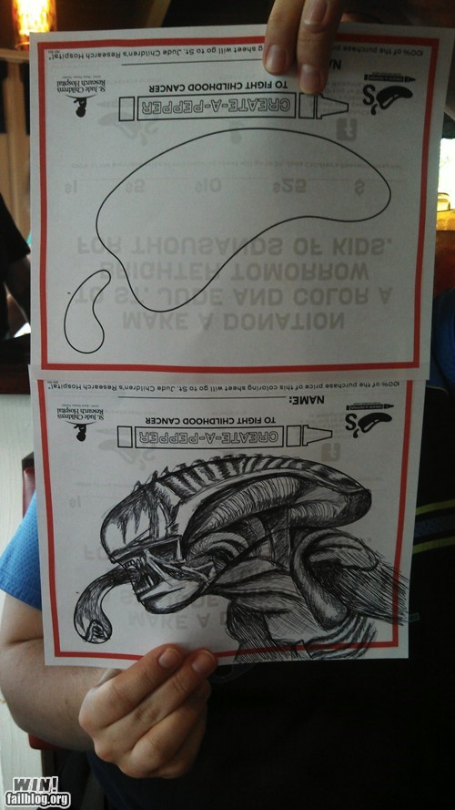 alien charity doodle drawing sci fi sketch - 6557763328