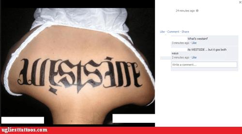 ambigram back tattoos facebook westside - 6557965056