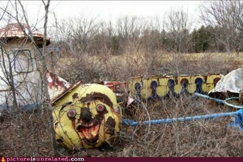 abandoned carnival rides creepy Kill It With Fire nightmare fuel