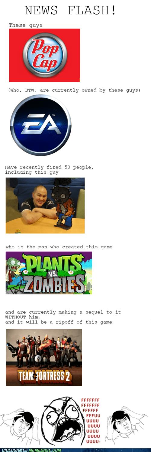 EA plants vs zombies popcap Sad - 6558824704