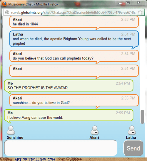 aang,Avatar,Mormon Chat