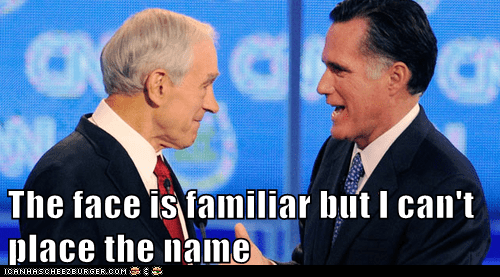 doesnt-know face familiar Mitt Romney name Ron Paul - 6559746560