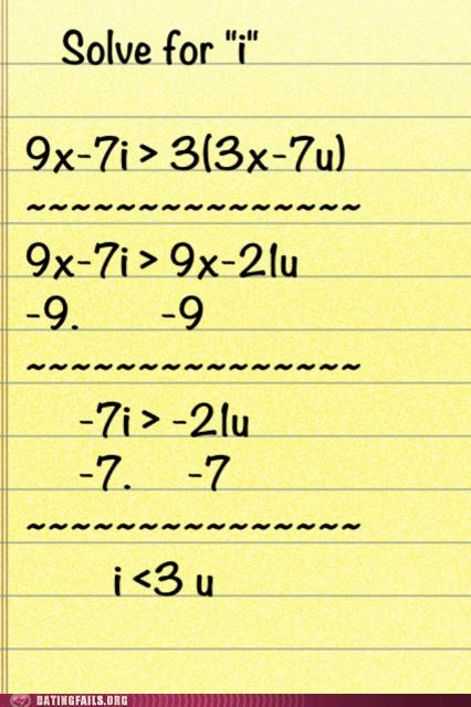 equations i-3-u i <3 u love math - 6559826176