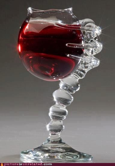 creepy sir wine glass - 6560057856
