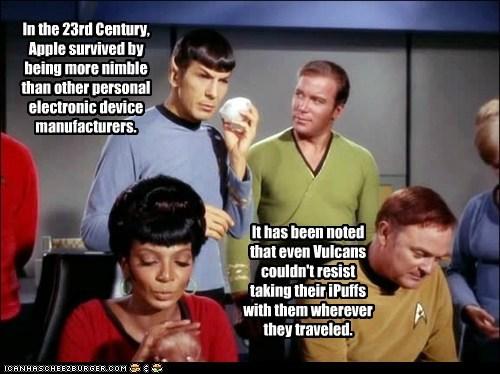 apple Captain Kirk Leonard Nimoy Nichelle Nichols Shatnerday Spock Star Trek tribbles uhura Vulcans William Shatner - 6560251136
