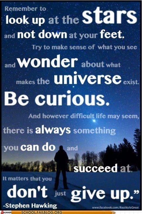 inspirational stephen hawking the universe Words Of Wisdom