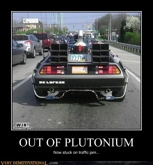 back to the future plutonium Traffic Jam - 6560454656