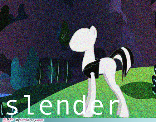 ponified scary slenderman slenderpony - 6560971264