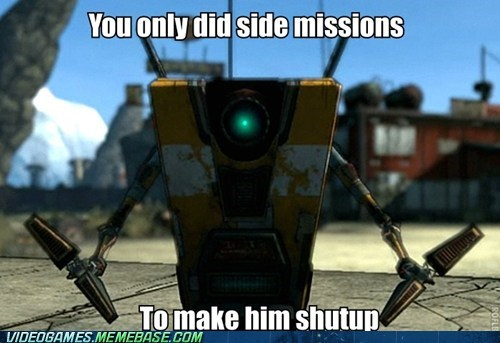 annoying,borderlands,claptrap,hello,side missions