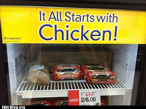 chicken freezer grocery store meat