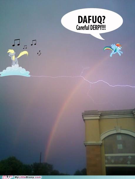 derpy hooves hey dere derbily IRL lightning rainbow - 6561394688