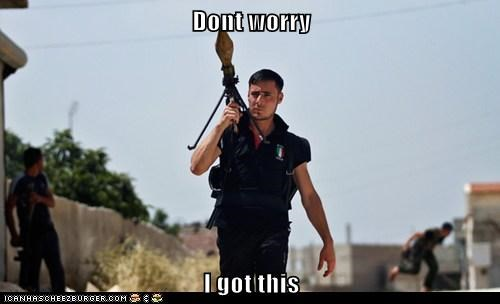 dont worry,hot,i got this,ridiculously photogenic syrian soldier,RPG,soldier