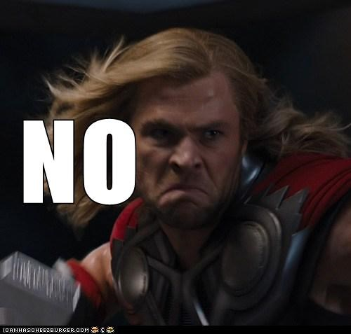 actor,celeb,chris hemsworth,funny,meme,no,Thor